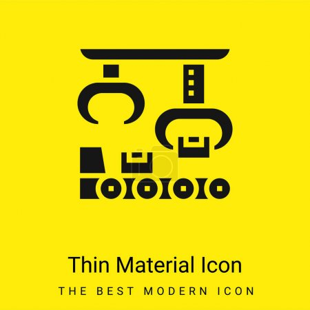 Illustration for Assembly minimal bright yellow material icon - Royalty Free Image