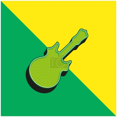 Illustration for Bass Green and yellow modern 3d vector icon logo - Royalty Free Image