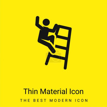 Accident minimal bright yellow material icon