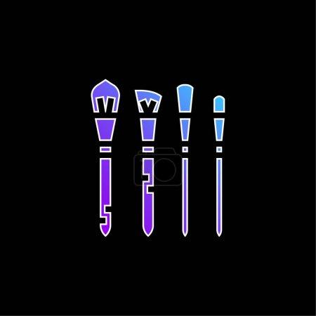 Photo pour Icône vectorielle dégradée bleue rougissante - image libre de droit