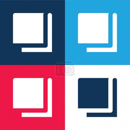 Illustration for Blanket blue and red four color minimal icon set - Royalty Free Image