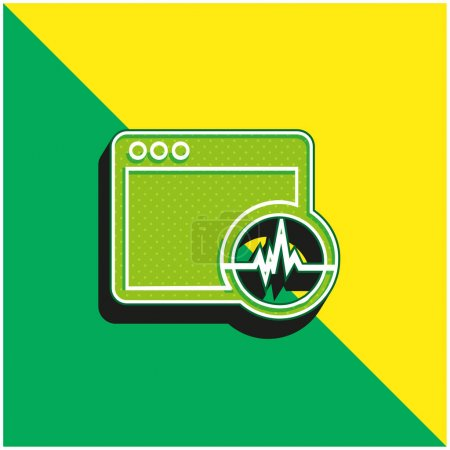 Activity Analysis In A Command Window Green and yellow modern 3d vector icon logo