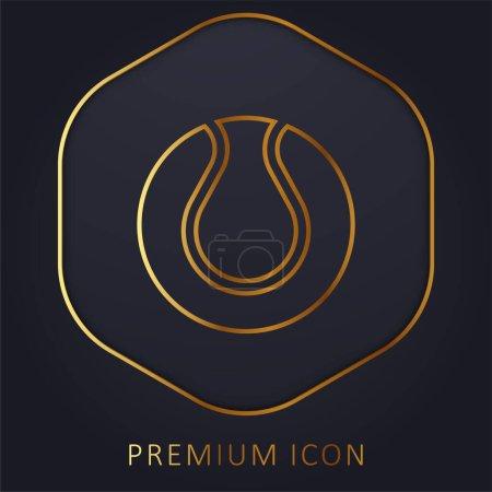 Illustration for Ball golden line premium logo or icon - Royalty Free Image