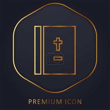 Photo pour Ligne d'or bible logo premium ou icône - image libre de droit