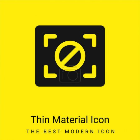 Illustration for Block Focus minimal bright yellow material icon - Royalty Free Image