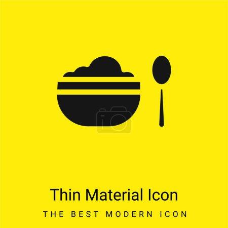 Illustration pour Icône matérielle jaune vif minimale Baby Food - image libre de droit