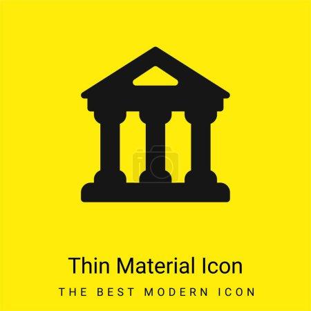 Illustration pour Banque minimale icône matériau jaune vif - image libre de droit