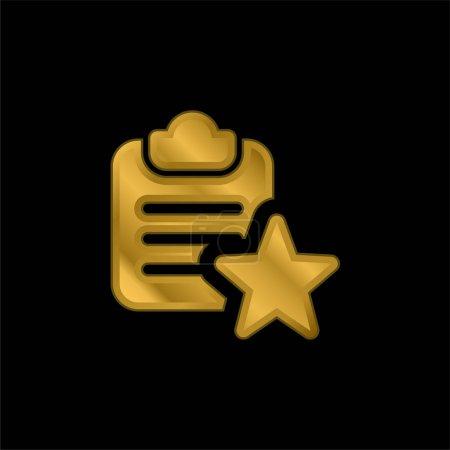 Photo pour Signet plaqué or icône métallique ou logo vecteur - image libre de droit