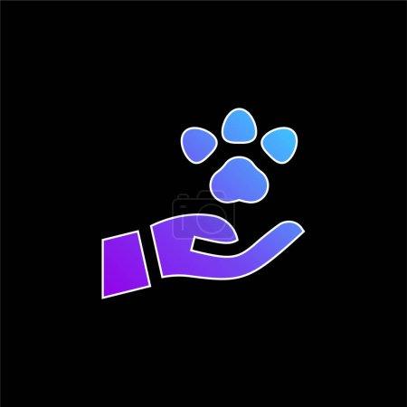 Illustration pour Icône vectorielle de dégradé bleu animal - image libre de droit