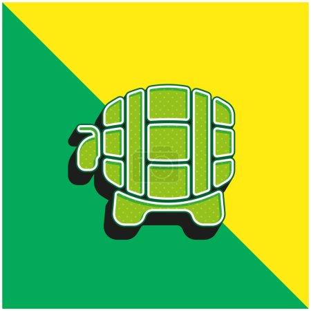 Illustration pour Barrel Logo vectoriel 3D moderne vert et jaune - image libre de droit
