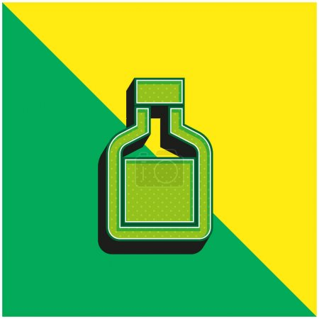Photo for Bottle Green and yellow modern 3d vector icon logo - Royalty Free Image