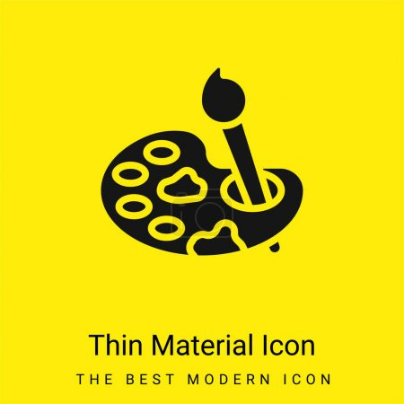 Illustration for Art minimal bright yellow material icon - Royalty Free Image