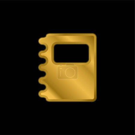 Agenda gold plated metalic icon or logo vector