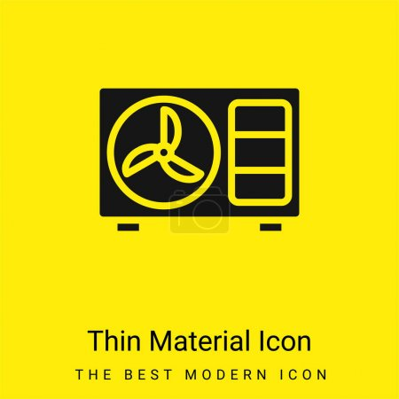 Illustration for Air Conditioner minimal bright yellow material icon - Royalty Free Image