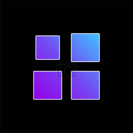 Illustration for Array blue gradient vector icon - Royalty Free Image