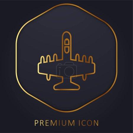 Illustration pour Logo ou icône premium Big Bombardier Golden Line - image libre de droit