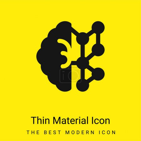 Illustration for AI minimal bright yellow material icon - Royalty Free Image