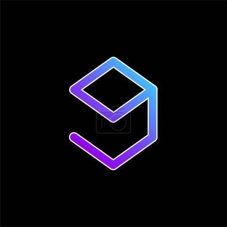 9gag Logo blue gradient vector icon