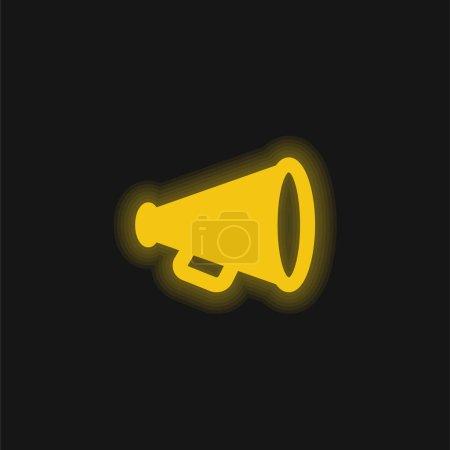 Illustration pour Publicité jaune brillant icône néon - image libre de droit
