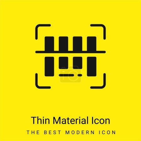 Illustration pour Code à barres minime icône de matériau jaune vif - image libre de droit