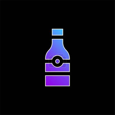 Illustration pour Bouteille de bière icône vectorielle dégradé bleu - image libre de droit