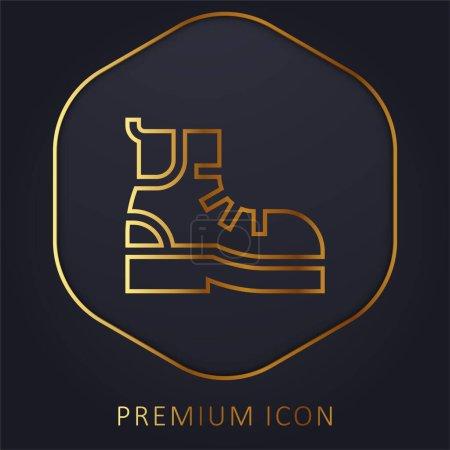 Illustration pour Bottes ligne d'or logo premium ou icône - image libre de droit