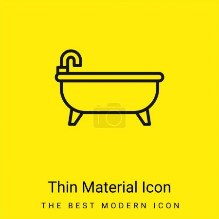 Bathtub minimal bright yellow material icon