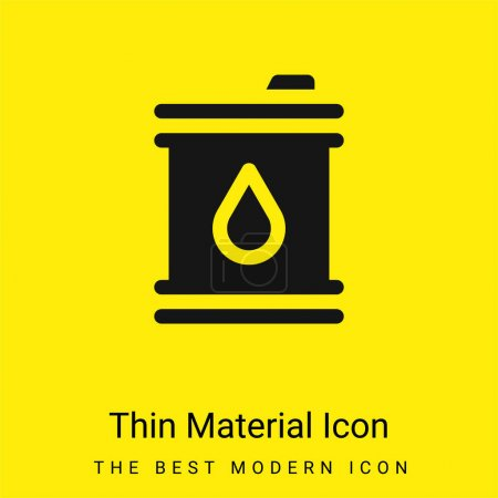 Illustration for Barrel minimal bright yellow material icon - Royalty Free Image