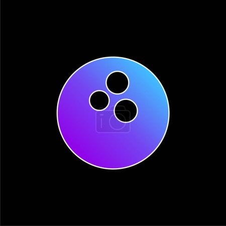 Bowling Ball blue gradient vector icon