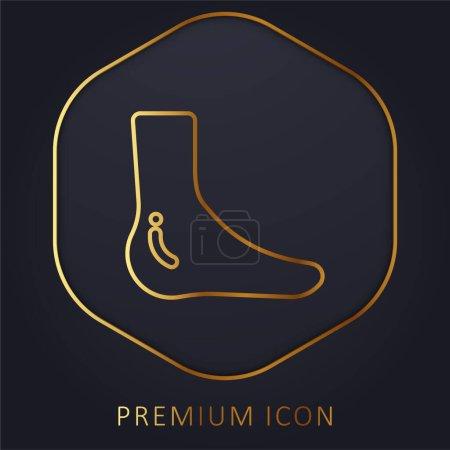 Illustration pour Cheville ligne d'or logo premium ou icône - image libre de droit