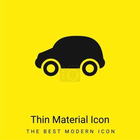 Illustration pour Noir voiture minime jaune vif icône matérielle - image libre de droit