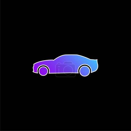 Photo pour Black Big Car Side View icône vectorielle dégradé bleu - image libre de droit