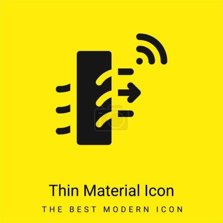 Illustration pour Purificateur d'air minimaliste jaune vif icône matérielle - image libre de droit
