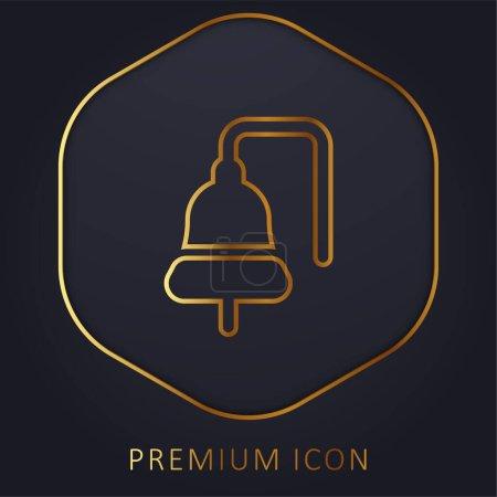 Illustration pour Bateau Bell ligne d'or logo premium ou icône - image libre de droit