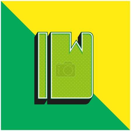 Illustration pour Signets Dans Agenda Vert et jaune moderne icône vectorielle 3d logo - image libre de droit