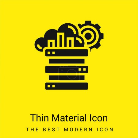 Illustration for Big Data minimal bright yellow material icon - Royalty Free Image