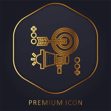 Illustration pour Ligne d'or publicitaire logo premium ou icône - image libre de droit