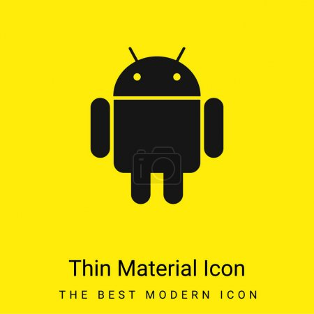 Illustration for Android Logo minimal bright yellow material icon - Royalty Free Image