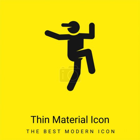 Breakdance minimal bright yellow material icon