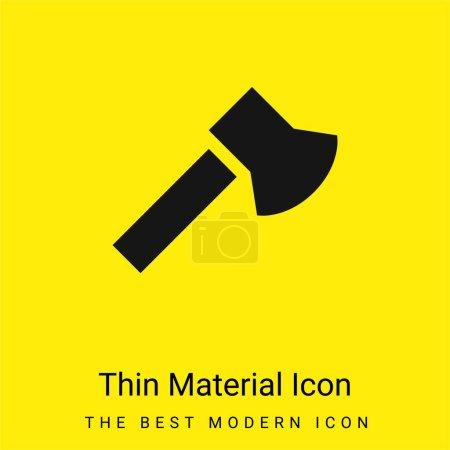 Illustration pour Icône matérielle jaune vif minimale Ax - image libre de droit