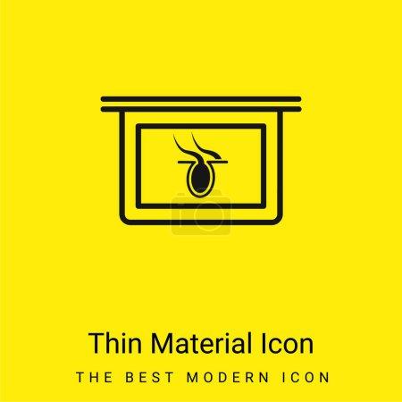 Illustration pour Partie du corps X Rayon Vision interne icône minimale de matériau jaune vif - image libre de droit