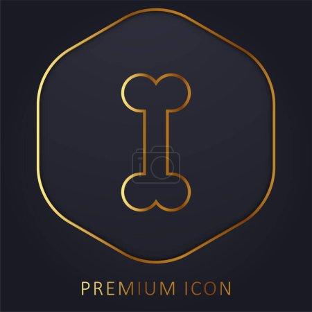 Illustration for Bone golden line premium logo or icon - Royalty Free Image