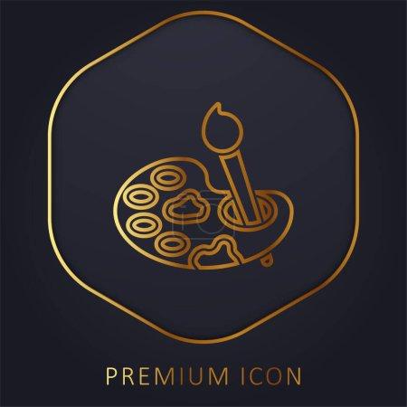 Illustration for Art golden line premium logo or icon - Royalty Free Image