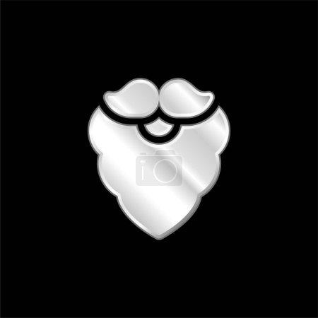 Illustration pour Barbe argent plaqué icône métallique - image libre de droit
