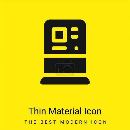 Atm minimal bright yellow material icon