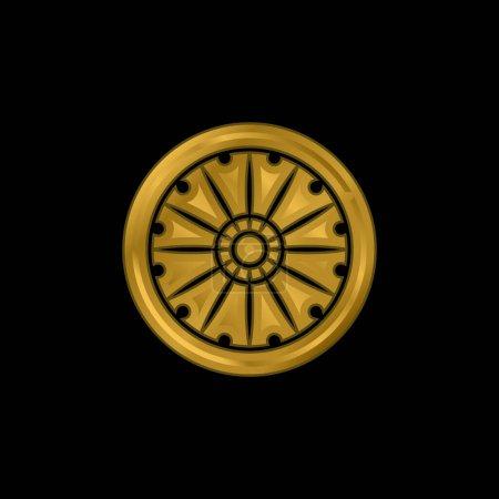 Photo for Ashoka gold plated metalic icon or logo vector - Royalty Free Image