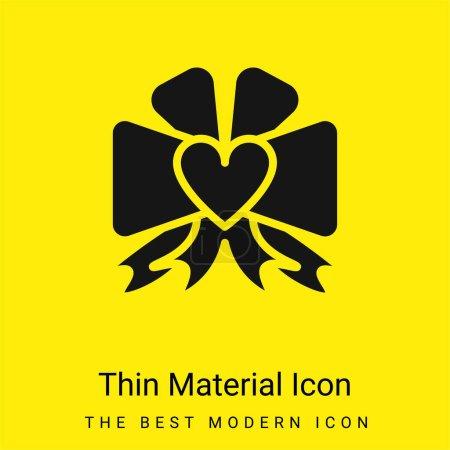Photo pour Arc minimal icône de matériau jaune vif - image libre de droit