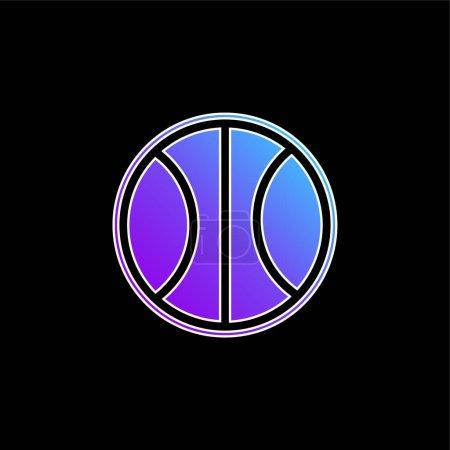 Illustration pour Icône vectorielle dégradé bleu ballon de basket - image libre de droit