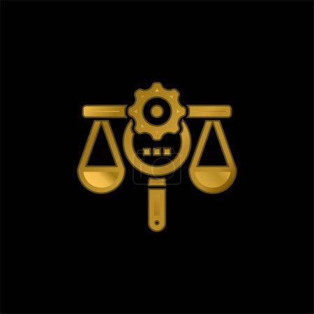 Illustration pour Avantage plaqué or icône métallique ou logo vecteur - image libre de droit