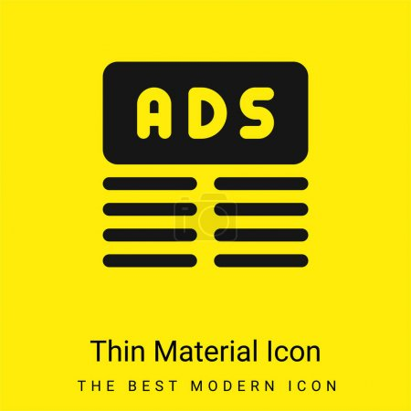 Banner minimal bright yellow material icon